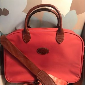 Longchamp canvas Travel Tote with leather accents